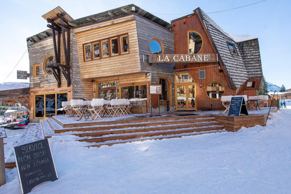 Restaurants in the Portes du Soleil, La Cabane, Restaurants in Avoriaz
