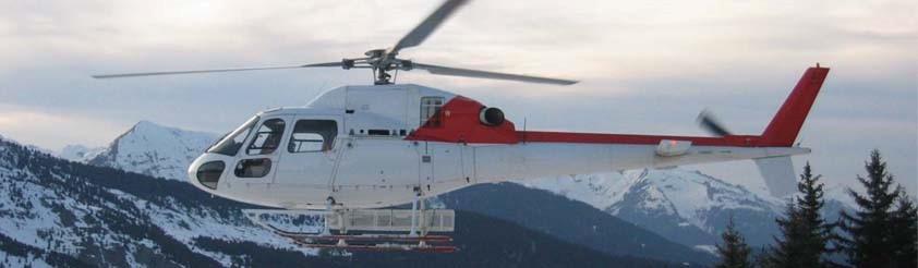 Helicopter transfer Portes du Soleil. Helicopter flight Portes du Soleil.