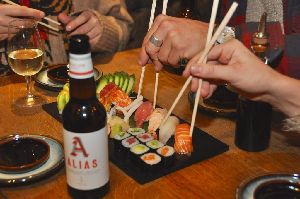 Aiseki sushi platter in Verbier, verbier restaurants, best restaurants in verbier, takeaway in verbier, living in verbier, verbier seasonal rentals, verbier resort guide