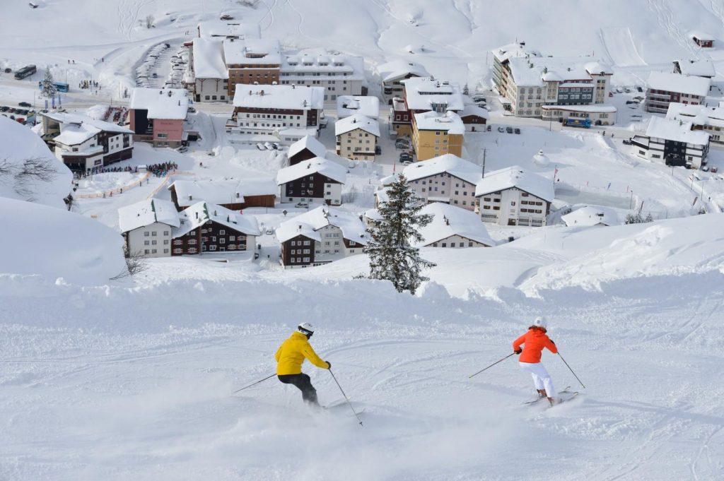 Lech ski resort piste, Ski resort Lech