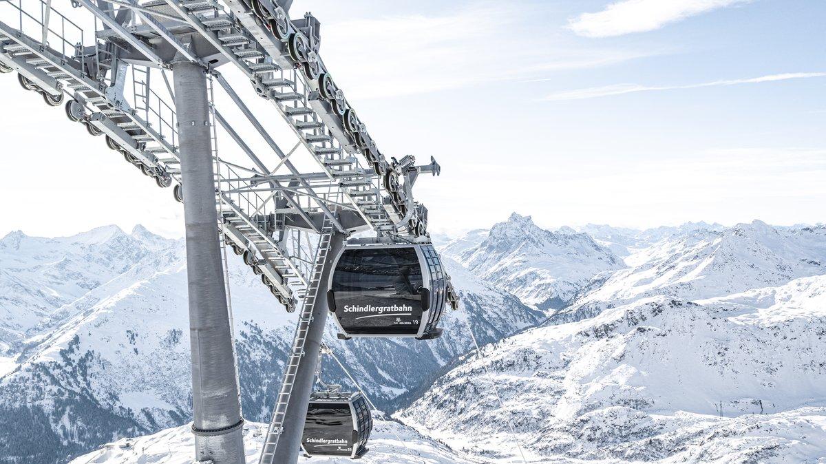 Ski Gondola in St Anton, Ski Gondola in the Arlberg, New Ski Lift